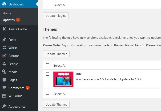 Theme Auto updates